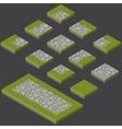 stone tiles kit vector image