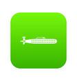 submarine icon digital green vector image vector image