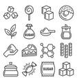 sugar icons set on white background vector image