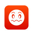 suspicious emoticon digital red vector image vector image