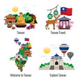 taiwan travel compositions vector image vector image