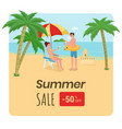 travel agency discount offer poster happy family vector image vector image