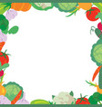 vegetables frame on a white background vector image