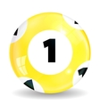 Victory Ball for the game of lottery Jack pot vector image vector image