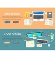 Web and Logo Design Concept vector image