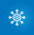 white snowflake on a blue gradient background vector image