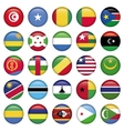 Africa Flags Round Buttons vector image