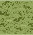 pattern with image of leaves vector image