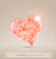 large glass heart filled with hearts vector image