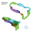 Abstract colored map of Abkhazia vector image vector image