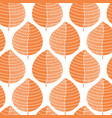 abstract orange leaves on white seamless pattern vector image
