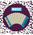 accordion tropical instrument musical vector image