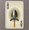 ace spades vintage playing card vector image