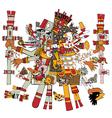 Ancient Aztec God vector image vector image