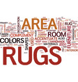 area rugs text word cloud concept vector image vector image
