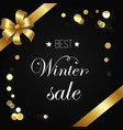 best winter sale poster sparkling elements vector image vector image