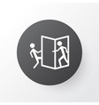 beware of opening door icon symbol premium vector image