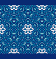 blue an white geometric flower pattern vector image vector image