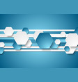 blue and white abstract tech background vector image