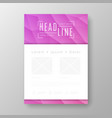 brochure design with geometric background vector image vector image