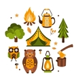 Camping Associated Symbols vector image