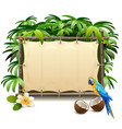 canvas tropics frame vector image