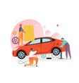 car mechanic and repair shop concept for vector image