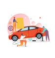 car mechanic and repair shop concept vector image