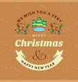 christmas card design with elegant design and vector image