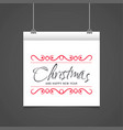 christmas greetings card design with grey vector image