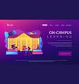 College campus concept landing page