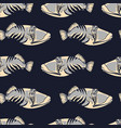 colored seamless pattern with fish vector image vector image