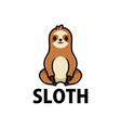 cute sloth cartoon logo icon vector image vector image