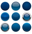 Dark-blue round high-detailed modern web buttons vector | Price: 1 Credit (USD $1)