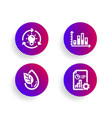 diagram graph organic product and idea icons set vector image vector image