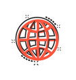 earth planet icon in comic style globe geographic vector image