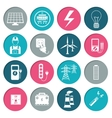 Electricity power icons set vector image vector image