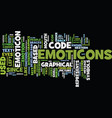 Emoticon text background word cloud concept