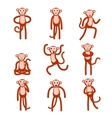 Emotions Full height figures monkeys vector image
