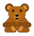 flat style cartoon bear vector image