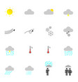 flat weather icon set for design vector image