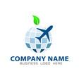 globe logo vector image vector image