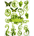 green floral designs vector image vector image