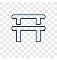 gym concept linear icon isolated on transparent vector image