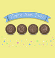 happy new year 2019 chocolate biscuites vector image vector image