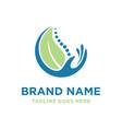 herbal bone health logo vector image vector image