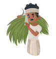 indian bihari man vector image vector image