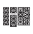 islamic arabic cnc laser pattern with flowers