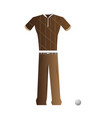 isolated golf uniform vector image vector image