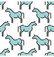 kids seamless pattern horse vector image vector image